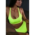Плавки Neon Swimsuit Split Yellow