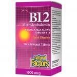 B12 Methylcobalamin 1000mcg 90 tabs NF...